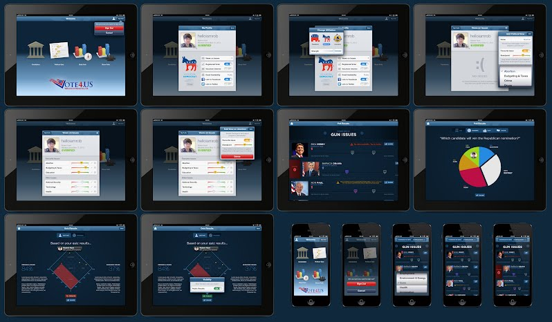 iPad and iPhone Screen Overview